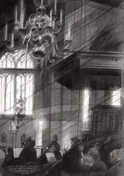 Symfonie Orkest Nijmegen @<br>Stevenskerk – 01-01-18<br>(sold), Drawings / Sketch, Abstract,Cubism,Fine Art,Impressionism,Realism, Architecture,Cityscape,Composition,Figurative,Historical,Inspirational, Pencil, By Corne Akkers
