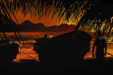 Taganga Bay Sunset Scene,<br>Colombia, Photography, Realism, Landscape, Photography: Photographic Print, By Daniel Ferreira Leites