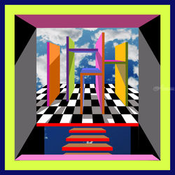 Take the Stairs, Digital Art / Computer Art, Commercial Design,Modernism,Pop Art, Architecture,Fantasy, Digital, By Rick Ruark