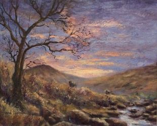 Tavy Cleave Tavistock, Paintings, Impressionism, Landscape, Oil, By David Mather