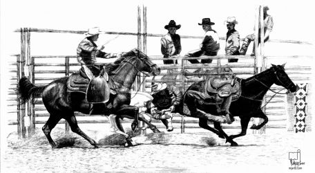Taylorsville Rodeo, Digital Art / Computer Art,Drawings / Sketch,Illustration,Poster, Commercial Design,Fine Art,Realism, Animals,Documentary,Historical,Narrative,Nature, Pencil, By Marty Jones