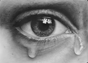 Tears in 3D, Drawings / Sketch, Realism, 3-D, Oil, By Stefan Pabst