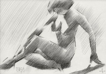The birth of new cubism 2 -<br>14-06-14, Drawings / Sketch, Abstract,Cubism,Fine Art,Impressionism,Realism,Surrealism, Composition,Erotic,Figurative,Inspirational,Nudes,People, Pencil, By Corne Akkers