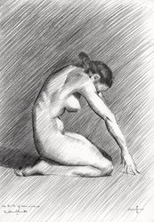 The birth of new cubism -<br>28-04-14, Drawings / Sketch, Abstract,Cubism,Fine Art,Impressionism,Realism, Anatomy,Composition,Erotic,Figurative,Inspirational,Nudes,People, Pencil, By Corne Akkers