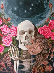 The Death and the Life, Paintings, Expressionism, Fantasy, Acrylic, By Victoria Trok