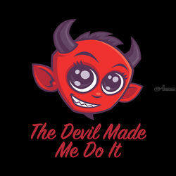 The Devil Made Me Do It, Digital Art / Computer Art,Illustration, Modernism,Pop Art, Cartoon,Fantasy,Humor, Digital, By John Schwegel