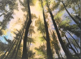 The Forest Floor, Paintings, Impressionism, Landscape, Watercolor, By Stephen Keller