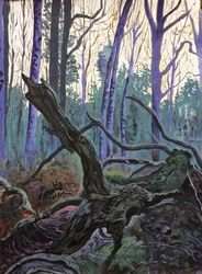The Forest, Paintings, Expressionism, Landscape, Acrylic, By Victoria Trok
