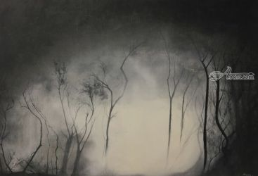 The Gathering Gloom, Paintings, Impressionism, Landscape, Oil, By Stephen Keller