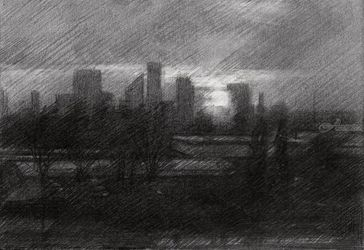 The Hague – 21-05-19, Drawings / Sketch, Fine Art,Impressionism,Realism, Architecture,Cityscape,Composition,Figurative,Inspirational,Landscape, Pencil, By Corne Akkers