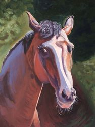 The Horse (acrylic on paper), Paintings, Expressionism, Portrait, Acrylic, By Victoria Trok