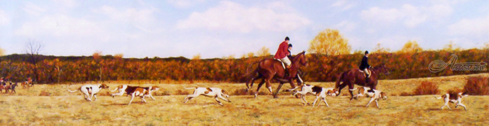 The Hunt, Paintings, Fine Art,Realism, Animals,Composition,Figurative,Landscape,Protest,Wildlife, Canvas, By Rick Seguso