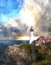THE LIGHTHOUSE, Digital Art / Computer Art, Realism, Architecture, Digital, By William Clark