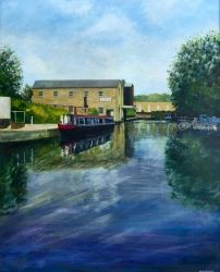 The Marina with Narrowboat