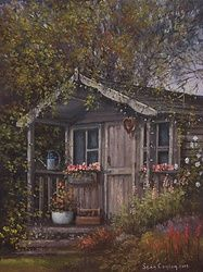 The Old Potting Shed, Paintings, Fine Art, Landscape, Oil, By Sean Conlon