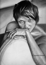 the other mind, Drawings / Sketch, Fine Art,Photorealism,Realism, People,Portrait, Pencil, By Jayanta Barman