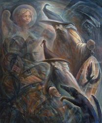 The pilgrims, Paintings, Expressionism, Figurative, Oil, By Ihor Khoynyak