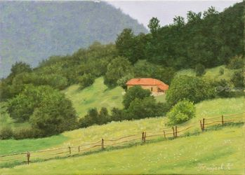 The Property, Paintings, Fine Art,Realism, Architecture,Landscape, Oil, By Dejan Trajkovic