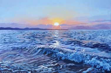 The Sunrise(acrylic on canvas), Paintings, Fine Art, Landscape, Acrylic, By Victoria Trok