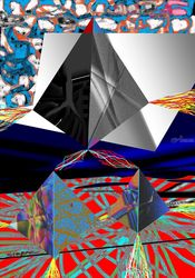three pyramids, Digital Art / Computer Art, Modernism, Conceptual, Digital, By Nebojsa Strbac