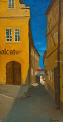 Thunovská, Prague, Paintings, Impressionism,Realism, Architecture, Canvas,Oil, By Ivan Klymenko