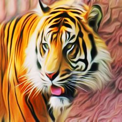 Tiger, Digital Art / Computer Art, Commercial Design,Modernism, Animals,Fantasy,Figurative, Digital, By Matthew Lacey