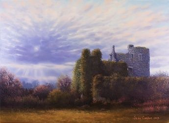 Towards Evening Lea Castle, Paintings, Fine Art, Landscape, Oil, By Sean Conlon