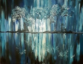 Tranquillity, Paintings, Abstract, Decorative, Acrylic, By Deborah Pride