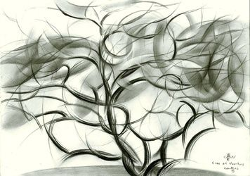 Tree at Voorburg - 21-03-16, Drawings / Sketch, Abstract,Cubism,Fine Art,Impressionism,Realism,Surrealism, Composition,Figurative,Inspirational,Landscape,Nature, Pencil, By Corne Akkers