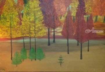Tree Farm, Paintings, Impressionism, Landscape, Oil, By MD Meiser