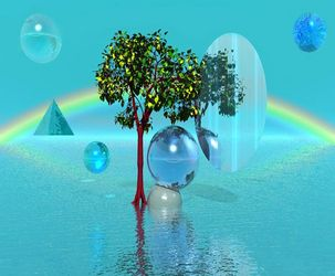 Tree Sphere, Digital Art / Computer Art, Abstract,Commercial Design,Surrealism, 3-D,Avant-Garde,Fantasy,Inspirational,Landscape,The Unconscious, Digital, By Matthew Lacey