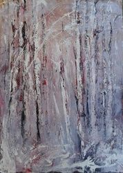 TREE STORIES #4, Paintings, Abstract,Expressionism,Fine Art,Minimalism,Modernism, Land Art,Landscape,Nature, Acrylic, By Emilia Milcheva
