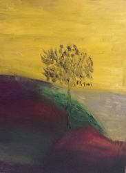 Tree Upon a Hill, Paintings, Impressionism, Landscape, Oil, By MD Meiser