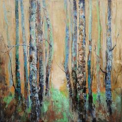 TREES STORIES #6, Paintings, Expressionism,Fine Art,Modernism, Land Art,Landscape,Nature, Acrylic,Canvas, By Emilia Milcheva