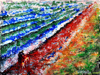 Turkish coast. 3, Paintings, Expressionism, Landscape, Acrylic,Canvas, By Victor Ovsyannikov