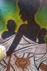 Twin Mother, Paintings, Abstract, People, Mixed, By Akeem Agbelekale