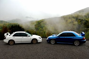 Two Subarus in the Smoky<br>Mountains, Photography, Fine Art, Documentary, Photography: Photographic Print, By Erin Carr