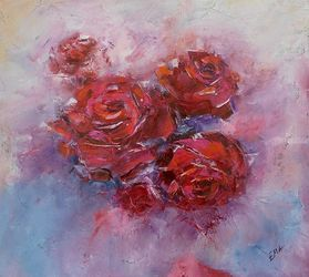 UN AMORE GRANDE, Paintings, Expressionism,Fine Art,Modernism, Floral,Nature, Oil, By Emilia Milcheva