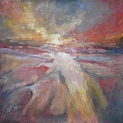 UNDER YOUR SPELL, Paintings, Abstract,Expressionism,Fine Art, Land Art,Landscape,Nature, Oil, By Emilia Milcheva