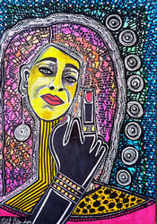 Unique custom portraits by<br>Mirit Ben-Nun israeli artist, Paintings, Expressionism, People, Ink, By Mirit Ben-Nun
