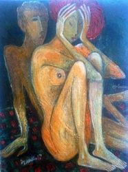 Unloved, Paintings, Surrealism, Erotic, Canvas, By ZAKIR AHMEDOV