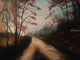 Oh Gosh..Which Way?, Paintings, Impressionism, Landscape, Watercolor, By Stephen Keller
