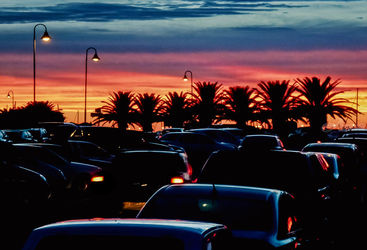 Urban Sunset Scene, Punta del<br>Este - Uruguay, Photography, Realism, Cityscape, Photography: Photographic Print, By Daniel Ferreira Leites