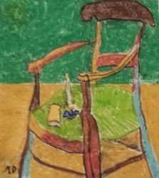Van Gogh's Chair, Paintings, Impressionism, Architecture, Pastel, By MD Meiser