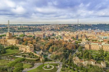Vatican Gardens Aerial View,<br>Rome, Italy, Photography, Realism, Landscape, Photography: Photographic Print, By Daniel Ferreira Leites
