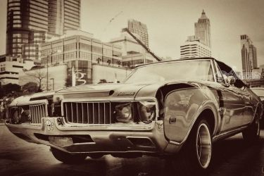 Vintage retro Oldsmobile 1972, Photography, Fine Art, Documentary, Photography: Metal Print,Photography: Photographic Print,Photography: Premium Print,Photography: Stretched Canvas Print, By Benjamin Dupont