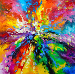 Vivid emotions, Paintings, Abstract,Expressionism, Analytical art,Fantasy, Canvas,Oil,Painting, By Olha   Darchuk