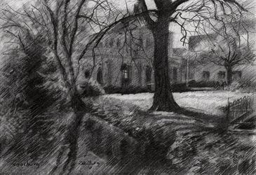 Voorburg - 12-05-19, Drawings / Sketch, Fine Art,Impressionism,Realism, Architecture,Composition,Figurative,Inspirational,Landscape,Nature, Pencil, By Corne Akkers