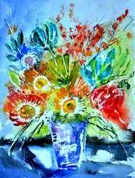 wat§ercolor 512012, Paintings, Impressionism, Botanical, Watercolor, By Pol Ledent