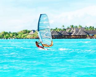 Water Sports Activity In<br>Beaches Of Maldives